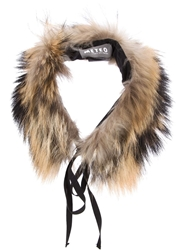 Yves Salomon Fox Fur Collar Multicolour
