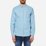 Barbour International Men's Speedrome Long Sleeve Shirt Heavy Bleach Blue