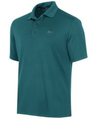 Greg Norman For Tasso Elba Men's 5 Iron Performance Golf Polo Dragonfly Blue