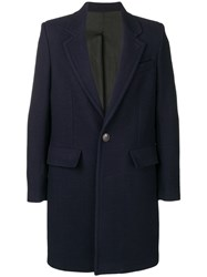 Ami Alexandre Mattiussi Lined Two Buttons Coat Blue