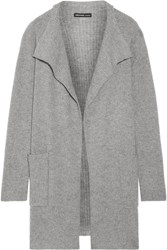 James Perse Waffle Knit Cashmere Cardigan Gray