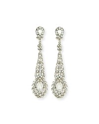 Jose And Maria Barrera Victorian Style Crystal Drop Earrings Silver