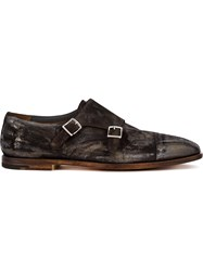 Premiata Monk Shoes Calf Leather Goat Skin Brown