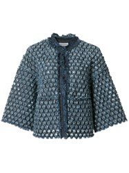 Sonia Rykiel Denim Cropped Jacket Blue