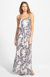 Junior Women's Lush Knit Maxi Dress Taupe Coal