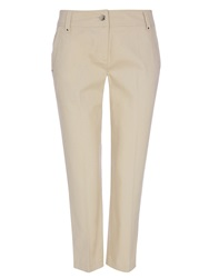 Wallis Petite Stone Seam Pocket Crop Trouser Beige