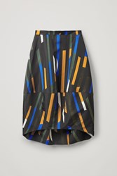 Cos Smooth Printed Convex Skirt Blue