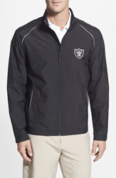Cutter Buck 'Oakland Raiders Beacon' Weathertec Wind And Water Resistant Jacket Big And Tall Black