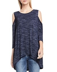 Vince Camuto Cold Shoulder Tee Blue Night