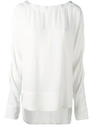 Marni Drawstring Neck Blouse White