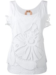 N 21 No21 Open Embroidery Tank Top White