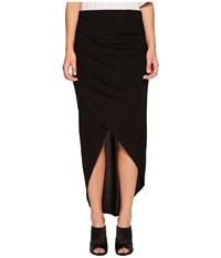 1.State Wrap Front High Low Skirt Rich Black Women's Skirt