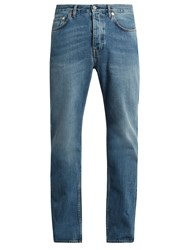 Acne Studios Van Mid Vintage Slim Leg Jeans Light Blue