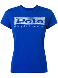 Polo Ralph Lauren Slim Fit Logo T Shirt Blue