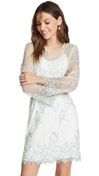 Loyd Ford Corded Lace Dress White