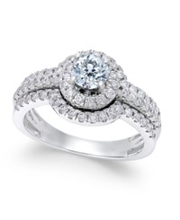 Macy's Diamond Halo Engagement Ring 1 1 4 Ct. T.W. In 14K White Gold