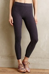 Anthropologie Shimmered Performance Leggings Silver