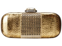 Rafe New York Mary Alice Box Clutch Gold Leaf Clutch Handbags Orange