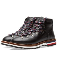 Moncler Peak Leather Hiking Boot Black