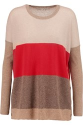Autumn Cashmere Color Block Cashmere Sweater Nude