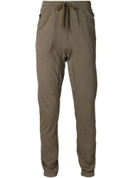 Tomas Maier Drawstring Track Pants Brown