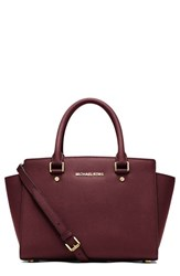 Michael Michael Kors 'Selma Medium' Zip Top Satchel Red