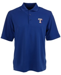 Antigua Men's Texas Rangers Extra Lite Polo Royalblue