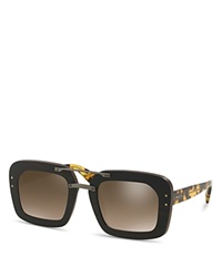 Prada Wooden Square Sunglasses