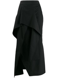 Chalayan Asymmetrical Skirt Black