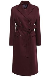 Alexachung Woman Double Breasted Twill Coat Burgundy