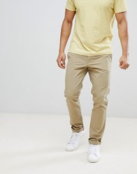 United Colors Of Benetton Slim Fit Chinos In Beige