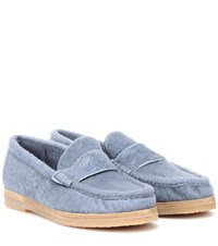 Stuart Weitzman Bromley Shearling Loafers Blue