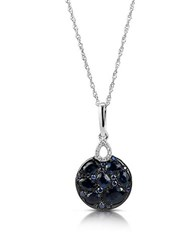 Marco Moore Sapphire Diamond And 14K White Gold Pendant Necklace