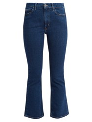 Mih Jeans Marty Cropped Flare Indigo
