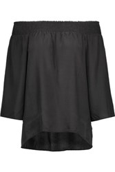 W118 By Walter Baker Aria Off The Shoulder Silk Top Black