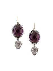 Larkspur And Hawk Sadie Oval Pear Scarlet Earrings Purple
