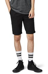 Topman Men's Stretch Skinny Fit Chino Shorts Black