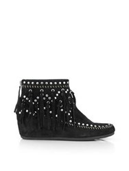 Ash Spirit Studded Moccasin Boots Black
