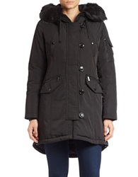 Michael Kors Faux Fur Trimmed Hooded Parka Black