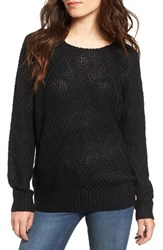 Woven Heart Women's Lace Up Knit Pullover