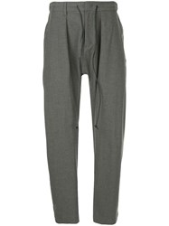 Attachment Tapered Belted Trousers Grey