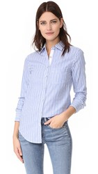Rag And Bone Stripe Classic Shirt Blue White Stripe