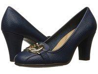 Aerosoles Enrollment Dark Blue Leather High Heels Navy