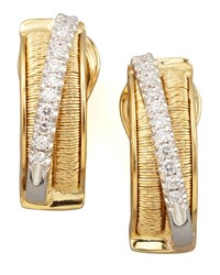 Diamond Cairo 18K Small Huggie Earrings With Diamonds Marco Bicego Gold
