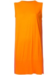 Maison Martin Margiela Mm6 Pleated Back Tank Dress Yellow Orange