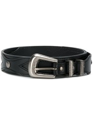 Saint Laurent Classic Buckle Belt Black