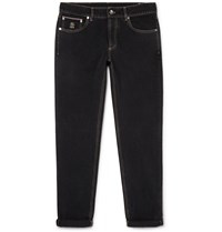 Brunello Cucinelli Slim Fit Denim Jeans Black