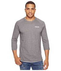 Hurley One And Only 3 4 Dri Fit Raglan Charcoal Men's Clothing Gray