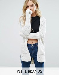 Miss Selfridge Petite Oversized Cardigan Cream Beige