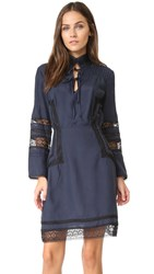 Derek Lam Long Sleeve High Neck Dress Midnight